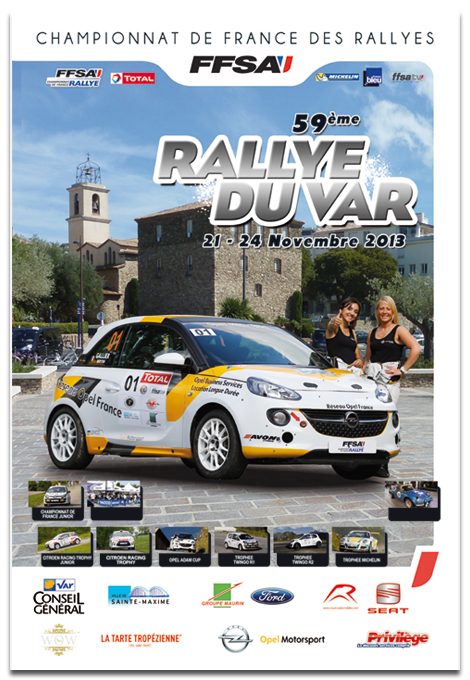 liste des engagés du rallye du Var 2013