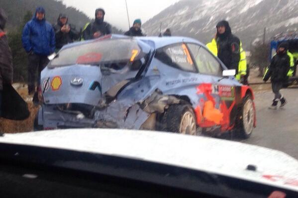 Les malchanceux du rallye de Monte-Carlo 2014