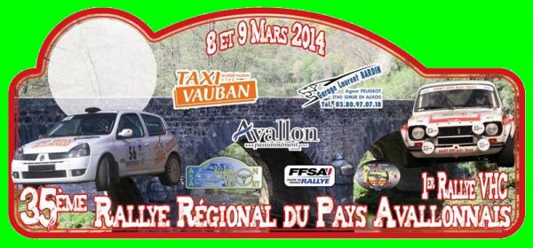 8 et 9 Mars 2014 – Rallye du Pays Avallonnais (Régional)