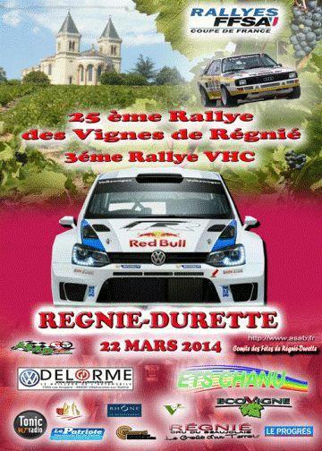 22 mars 2014 – Rallye des Vignes de Régnié (Régional)