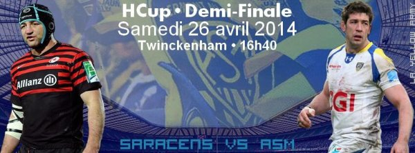 SARACENS - ASM 1/2 finale H'Cup 26 avril 2014