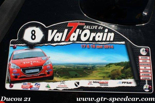 rallye du Val d'Orain 17-18 mai