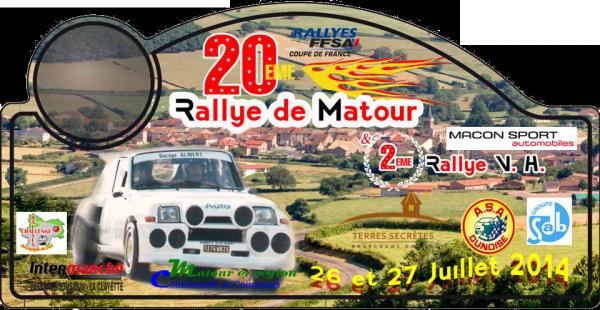 26 et 27 Juillet 2014 – Matour (Régional)
