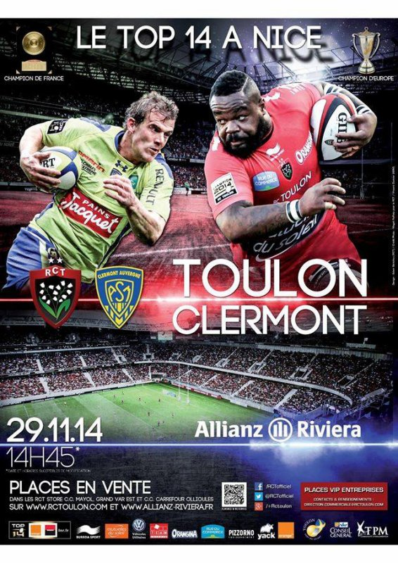 Toulon / ASM 29 novembre 2014