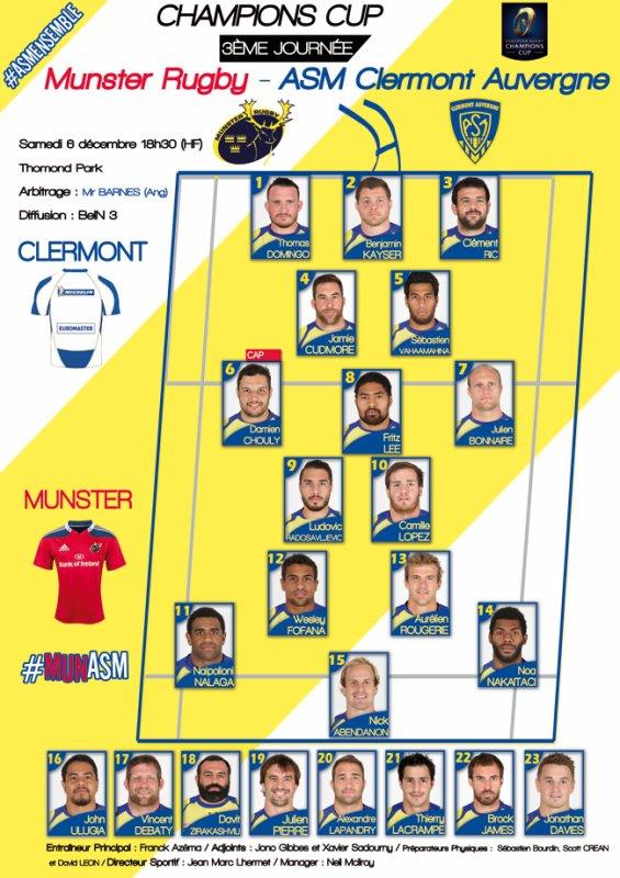 Munster - ASM 6 décembre 2014