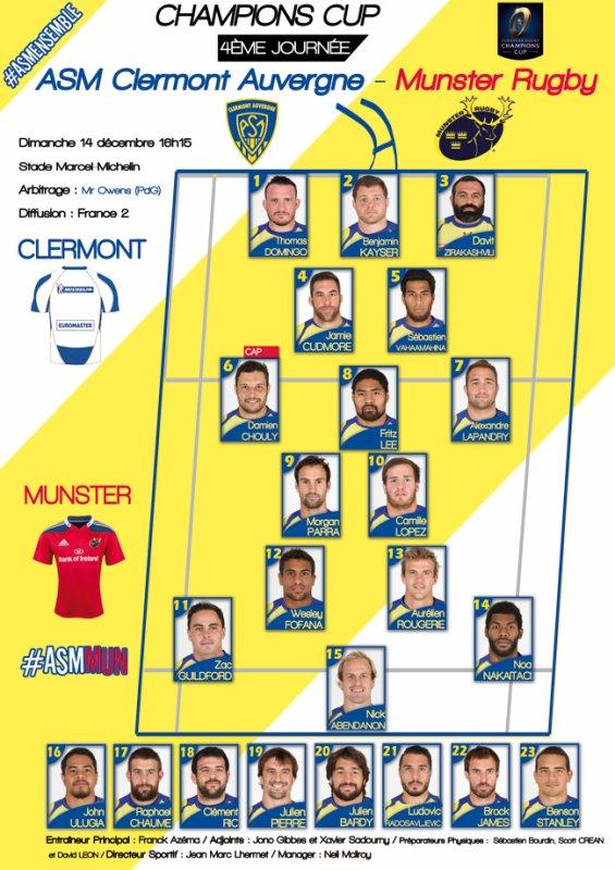 ASM - Munster 14 décembre 2014