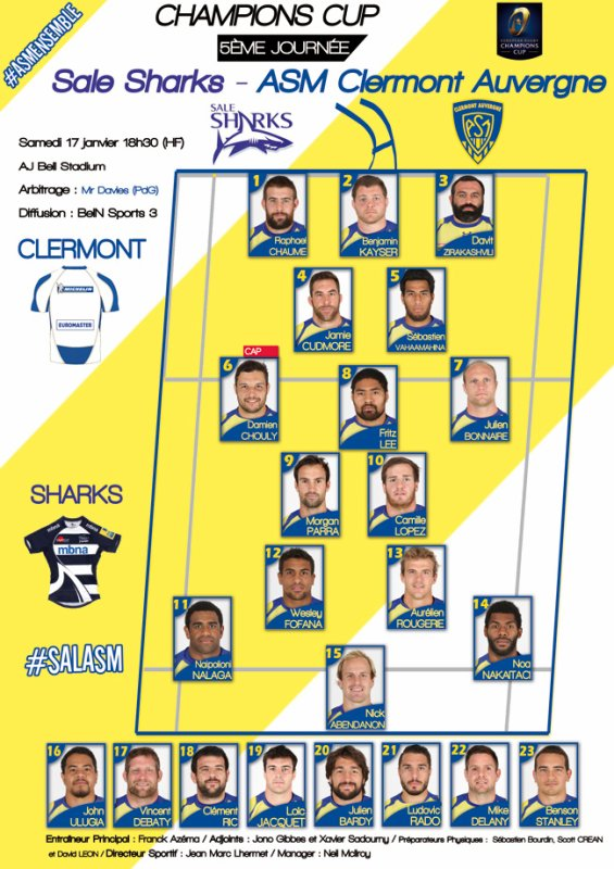 Sale Sharks - ASM 17 janvier 2015