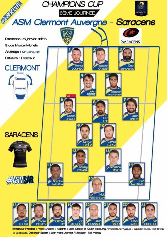 ASM - Saracens 24 janvier 2015