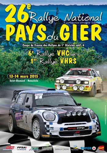 Liste des engagés Rallye Pays du Gier 13 et 14 mars 2015