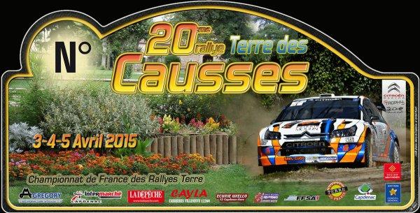 Liste des engagés 3 au 5 avril 2015 – Terre des Causses (Championnat de France des rallyes Terre)