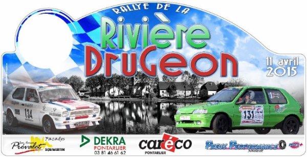 Liste des engagés du rallye de la Rivière Drugeon 11 avril 2015
