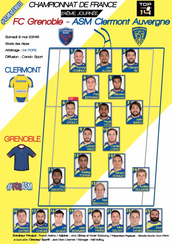 Grenoble - ASM 9 mai 2015