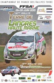 Le rallye Terre de Langres 2015 se dispute du 26 au 28 Juin 2015