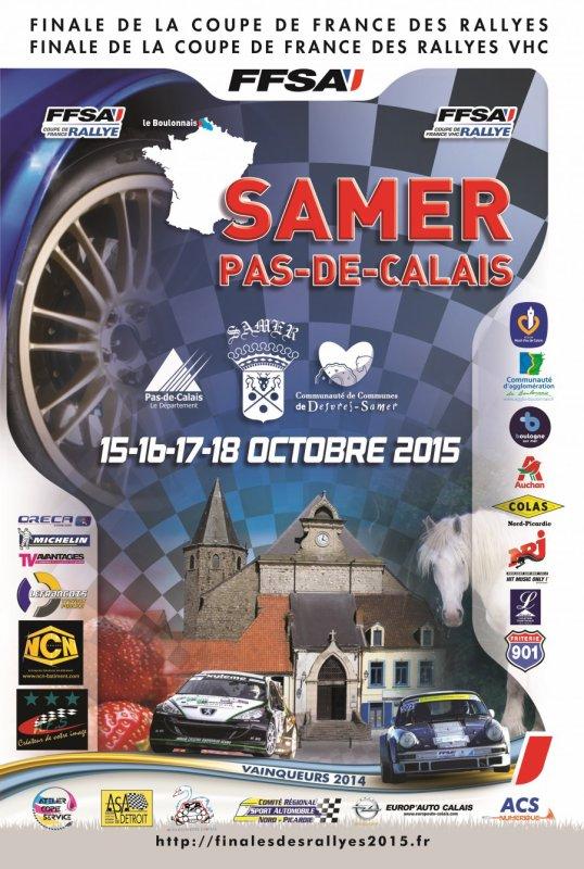 liste des engagés finale des rallyes 2015 (Pas de Calais)