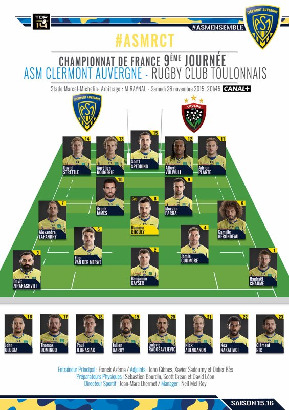 ASM - Toulon 28 novembre 2015