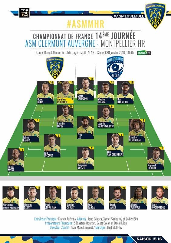 ASM - Montpellier 30 janvier 2016