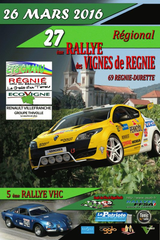 Liste des engagés Rallye des Vignes