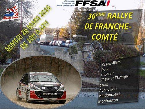 Liste des engagés Rallye de Franche-Comté