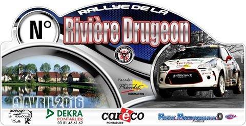 Liste des engagés du rallye de la Rivière Drugeon 9 avril 2016