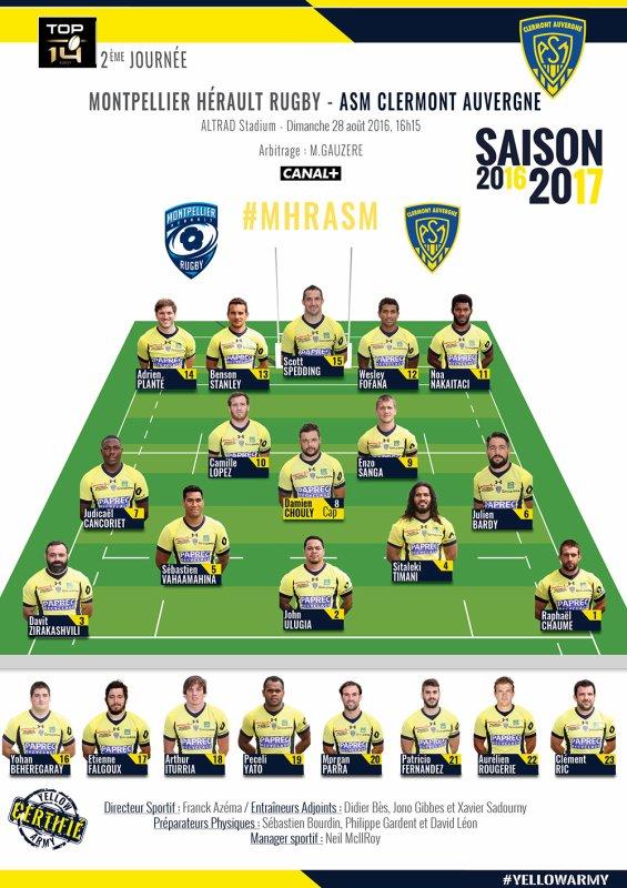 Montpellier / Clermont 28 août 2016