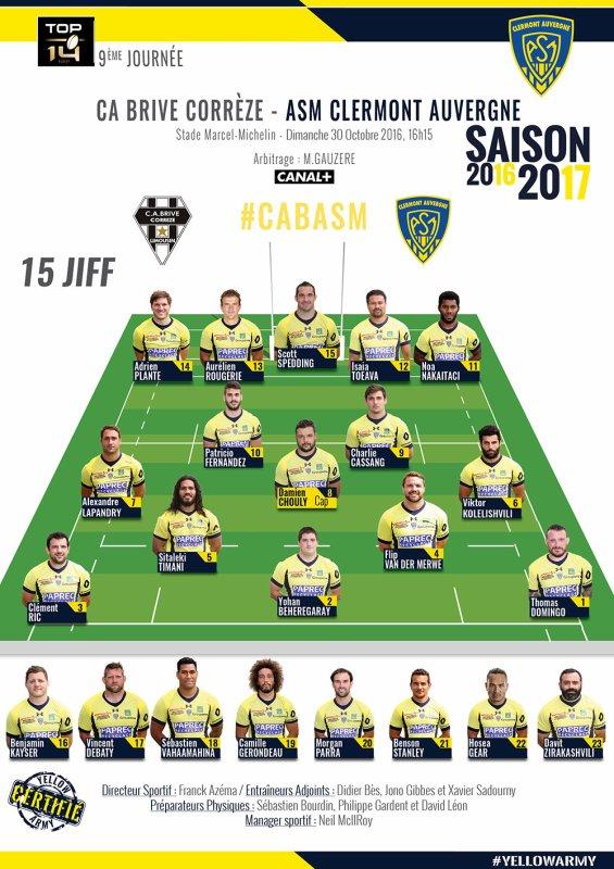 Brive - Clermont 30 octobre 2016