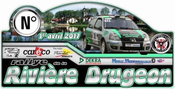 Liste des engagés du rallye de la Rivière Drugeon