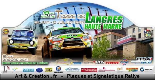Liste des engagés du rallye du Terre de Langres de 1er et 2 juillet2017