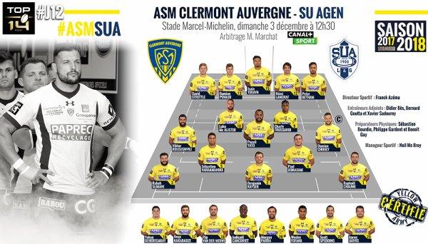 Clermont - Agen 3 décembre 2017