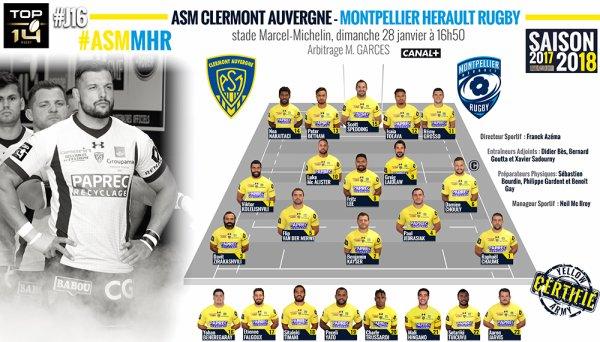Clermont - Montpellier 28 janvier 2018