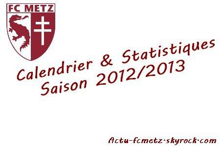 Calendrier et statistiques saison 2012/2013