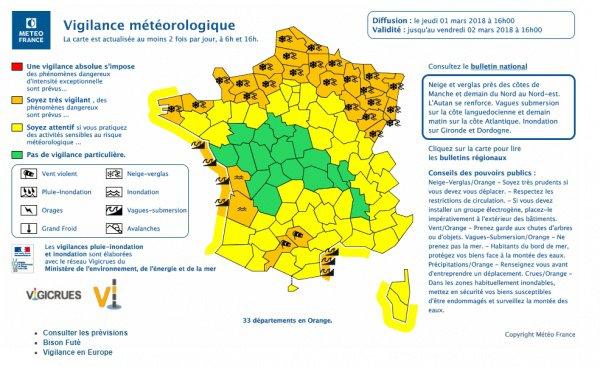 demain vigilance orange dans le nord est et le nord ouest