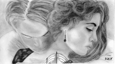Leonardo dicaprio et kate winsler dans titanic laisse moi des commentaires blog leonardo - Titanic dessin ...