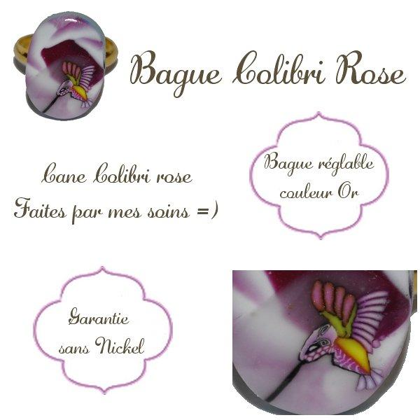 Bague Colibri Rose