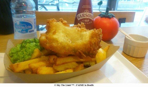fish and chips avec purée de petit pois The Sunken Chip 39 rue des vinaigriers 75010 paris