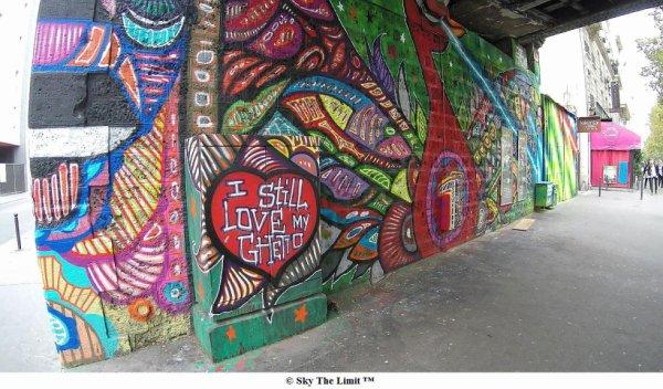 I love my ghetto - paris vingt moins un Street art #streetart