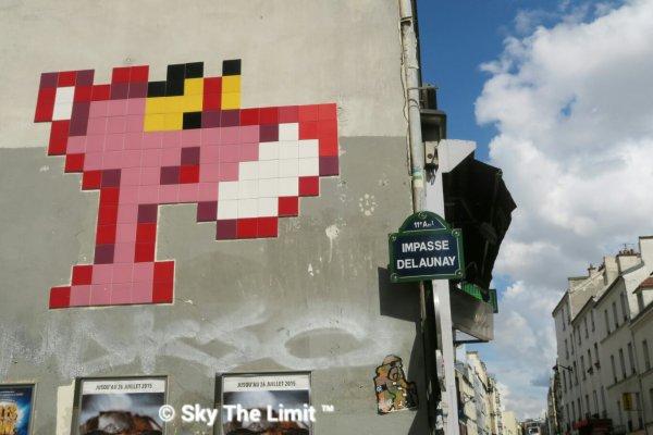 La panthère rose #paris #streetart