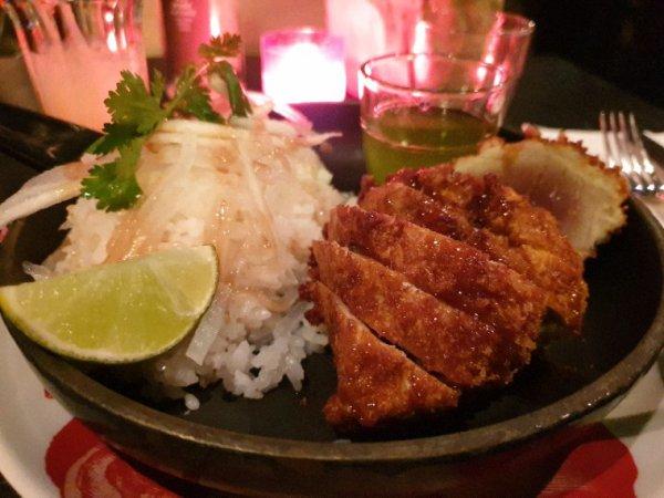 Thon tonkatsu et riz japonais chez Mama Shelter Paris est