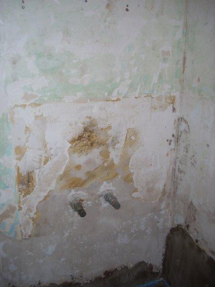 Béton cire dans une douche