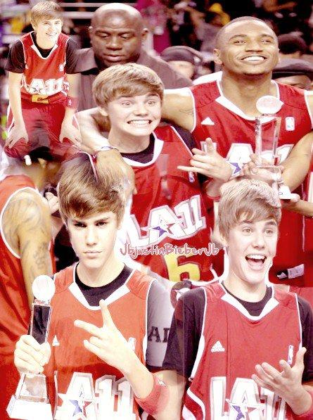 Justin jouant à un match de Basket-Ball avec d'autre personnes de l'équipe à Los Angeles. + Tournage d'un nouveau clip ThatShouldBeMe. + Remix + Justin s'est coupé les cheveux et parle de sex !