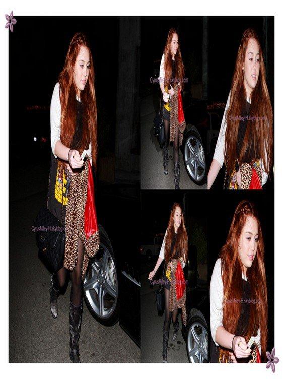 . .» Le 7 mars, Miley allant manger des sushi à Los Angeles .  ..