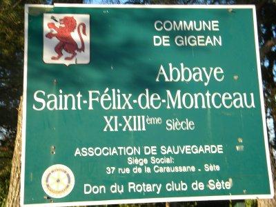 Abbaye de Saint Felix de Montceau,. Octobre 2011