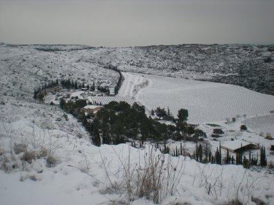 La Mas de Rimbault sous la Neige