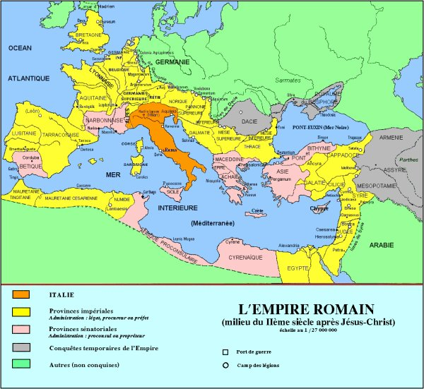 Des Grecs à l'Empire Romain
