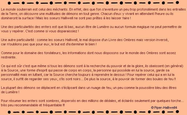 ____# article 14______________::_L'Enfer sur Piper-Halliwell4_::______________Piper-Halliwell4 __ __|_création_|_décoration_|_newsletter_|_sommaire__|___ << La Source du Mal >>___:__Bonne Visite_m
