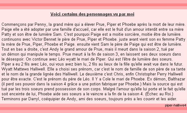 ____# article 30_____________::_Description sur Piper-Halliwell4_::_____________Piper-Halliwell4 __ __|_création_|_décoration_|_newsletter_|_sommaire___|__ << ne pas prendre svp >>__:___Bonne Visite_m
