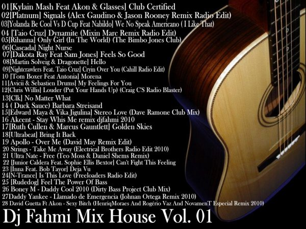 new cd dj fahmi mix the house 2011 the sound of freedom