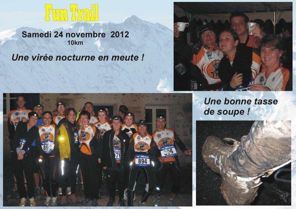 FUN TRAIL - Samedi 24 novembre 2012