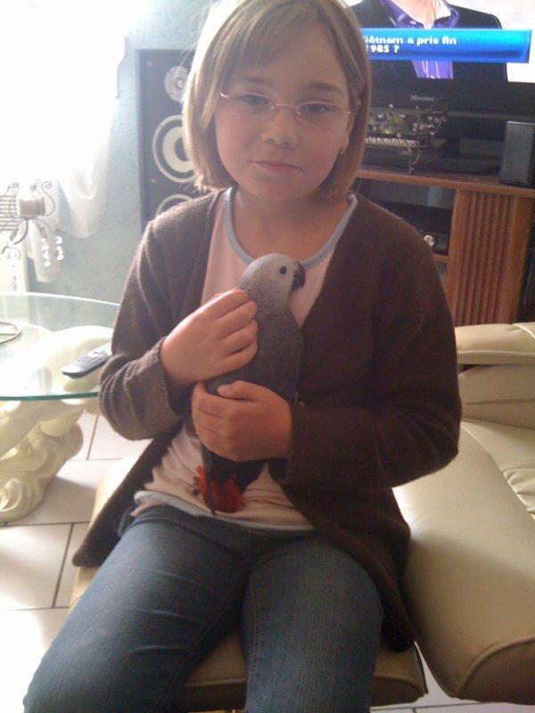 emelyne et notre perroquet