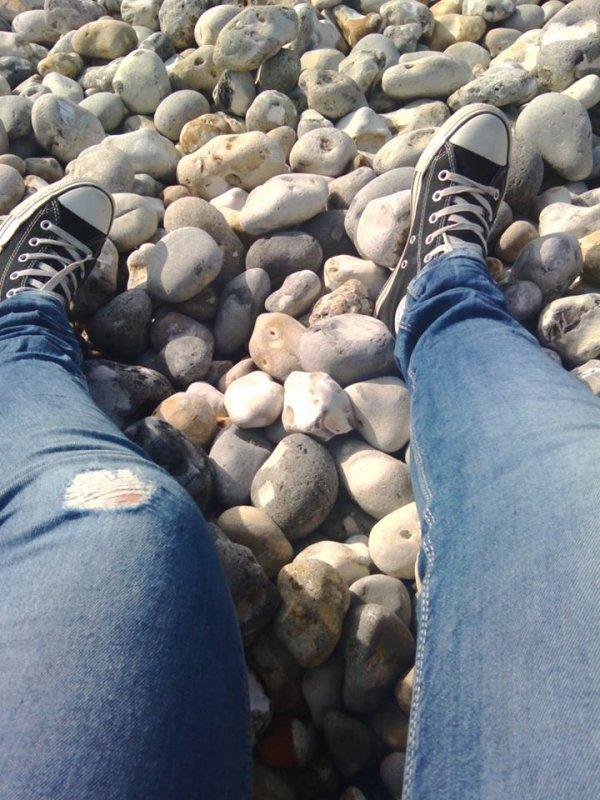 Quaand sa galere a la plage <3