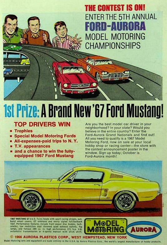 La Mustang en circuit ! (Archive personnel)